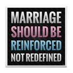 Marriage Should Be Reinforced Tile Coaster