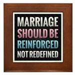 Marriage Should Be Reinforced Framed Tile