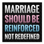 Marriage Should Be Reinforced Square Car Magnet 3