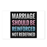 Marriage Should Be Reinforced Postcards (Package o