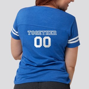 Couples Together Personalize Womens Football Shirt