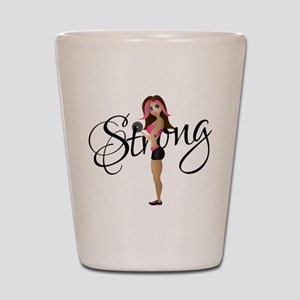 Strong Fit Girl Shot Glass