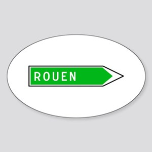 Roadmarker Rouen - France Oval Sticker