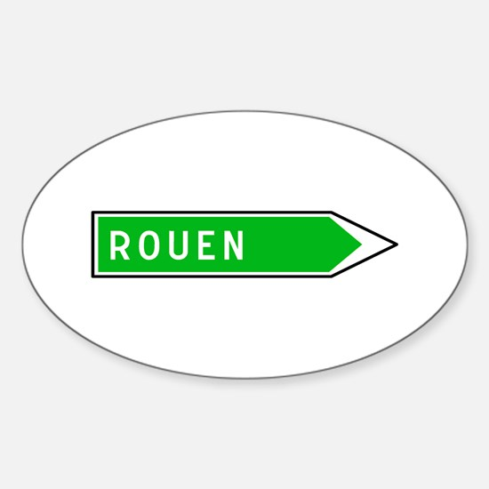 Roadmarker Rouen - France Oval Decal