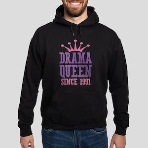 Drama Queen Since 1991 Hoodie (dark)