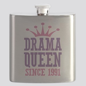 Drama Queen Since 1991 Flask