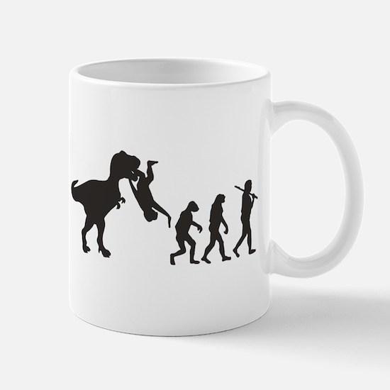 Man Evolution Mugs
