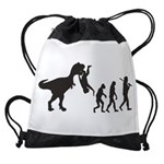Man Evolution Drawstring Bag