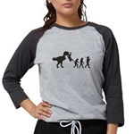 Man Evolution Womens Baseball Tee