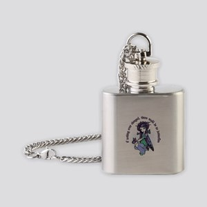 IF NOTHING EVER CHANGED Flask Necklace