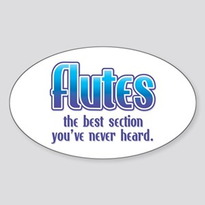 Flutes Best Section Oval Sticker