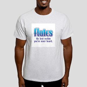 Flutes Best Section Ash Grey T-Shirt