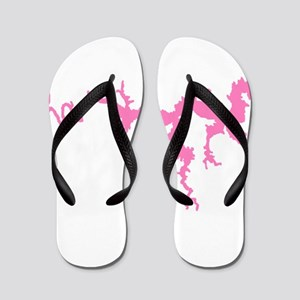 dragon only_pink3 Flip Flops
