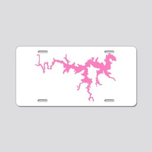 dragon only_pink3 Aluminum License Plate