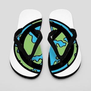 Peace on Earth in Black Flip Flops