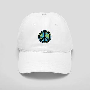 Peace on Earth in Black Baseball Cap