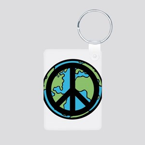 Peace on Earth in Black Keychains