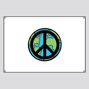 Peace on Earth in Black Banner