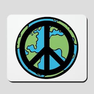 Peace on Earth in Black Mousepad