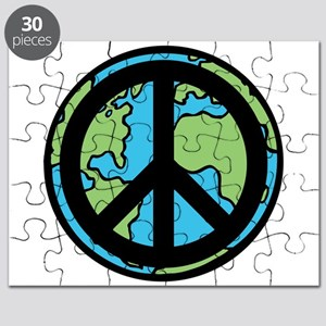 Peace on Earth in Black Puzzle