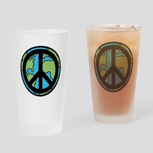 Peace on Earth in Black Drinking Glass