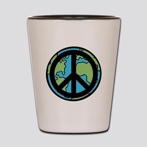 Peace on Earth in Black Shot Glass
