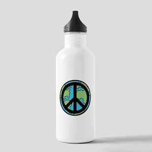 Peace on Earth in Black Water Bottle