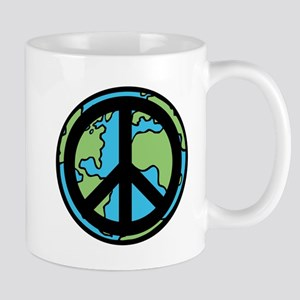 Peace on Earth in Black Mug