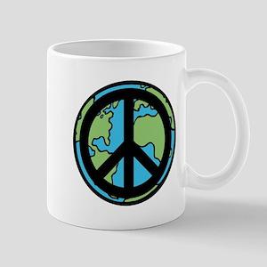 Peace on Earth in Black Mug