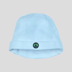 b40abf67b72f0 Peace Earth Baby Hats - CafePress