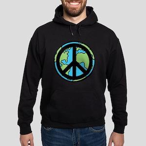 Peace on Earth in Black Hoodie