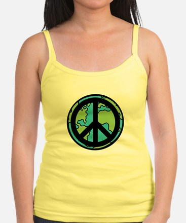 Peace on Earth in Black Tank Top