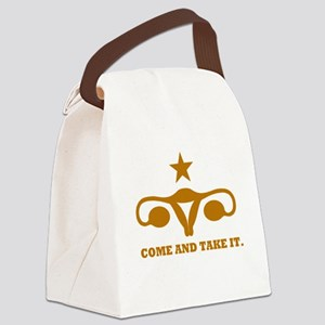 Come and Take It Uterus Canvas Lunch Bag