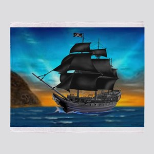 PIRATE SHIP Throw Blanket