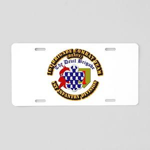 Army - 1st Infantry Div - 1st BCT Aluminum License