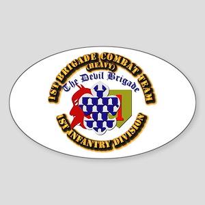 Army - 1st Infantry Div - 1st BCT Sticker (Oval)