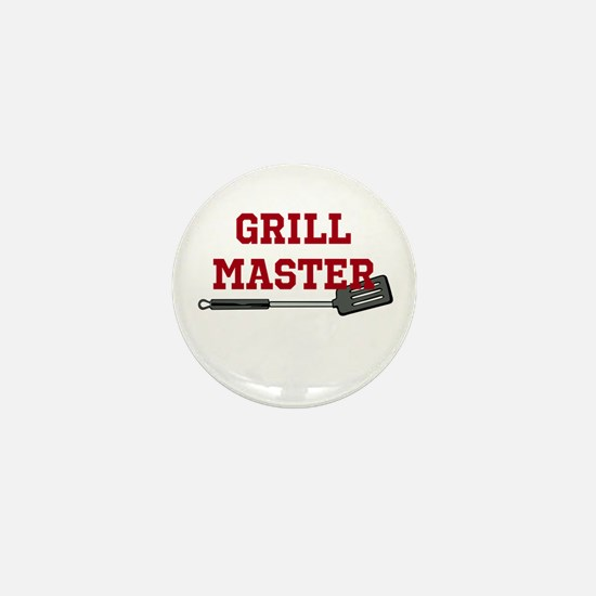 Grill Master Spatula in Red Mini Button