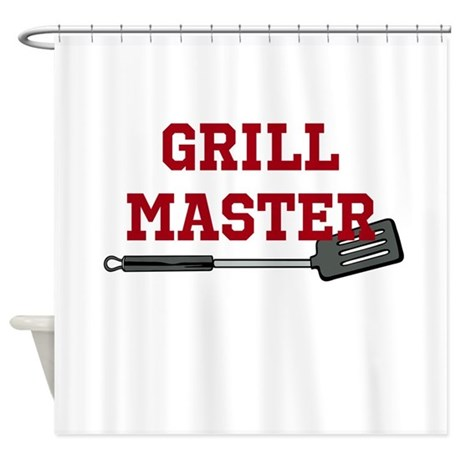 Grill Master Spatula in Red Shower Curtain