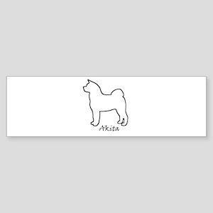 White Akita Bumper Sticker