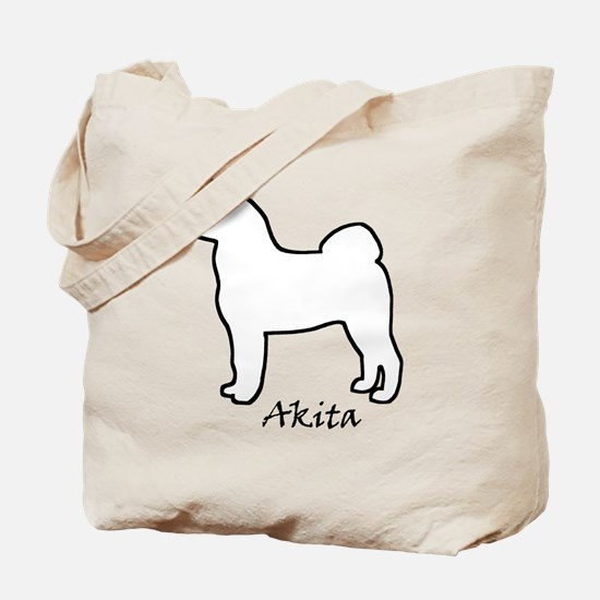 White Akita Tote Bag