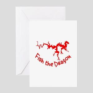 FISH THE DRAGON Greeting Card
