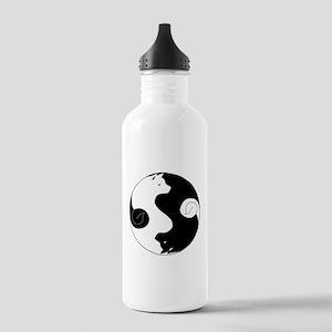 Ying Yang Akita Water Bottle