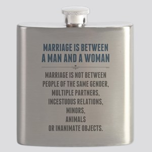 Marriage In America Flask
