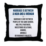 Marriage In America Throw Pillow