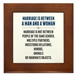 Marriage In America Framed Tile