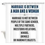 Marriage In America Shower Curtain