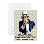 Debt 2 Society Greeting Cards (Pk of 10)