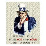 Debt 2 Society Small Poster