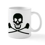 skull cross plungers_trans-black_medium Mugs