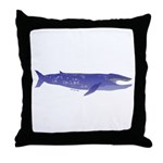 Blue Whale 2 Throw Pillow